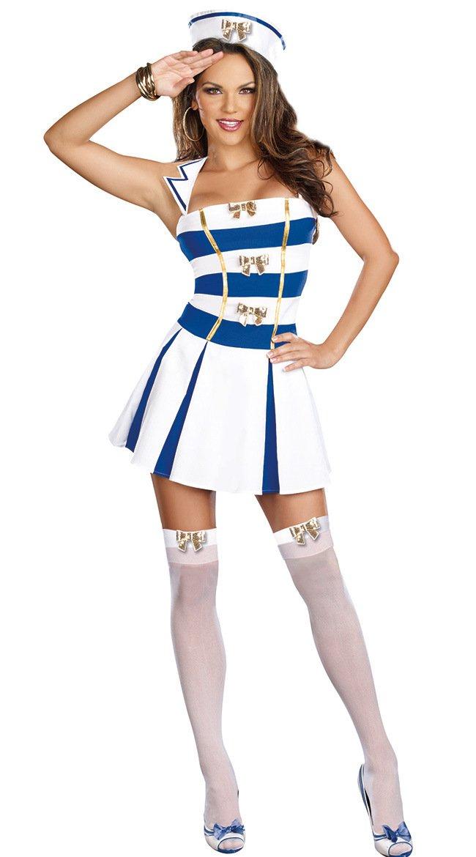 LLY Marine vêtements Uniformes Tentation Costume de Cosplay Parti