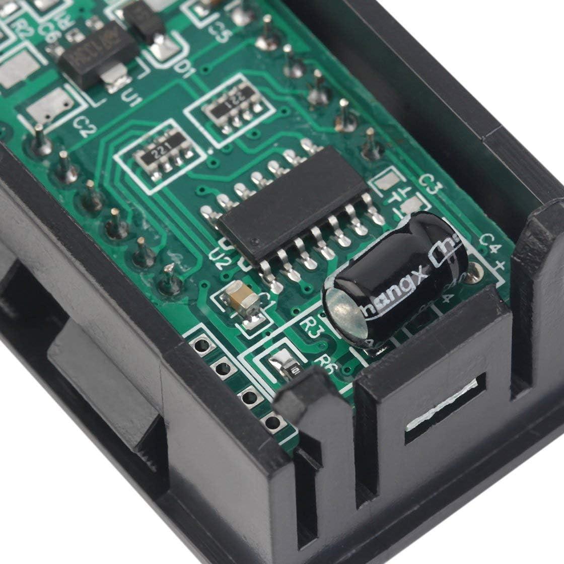 10 st/ücke Led-anzeige Hohe Messgenauigkeit Mini Digital Voltmeter 0-100 V Rote LED Fahrzeuge Motor Spannung Panel Meter
