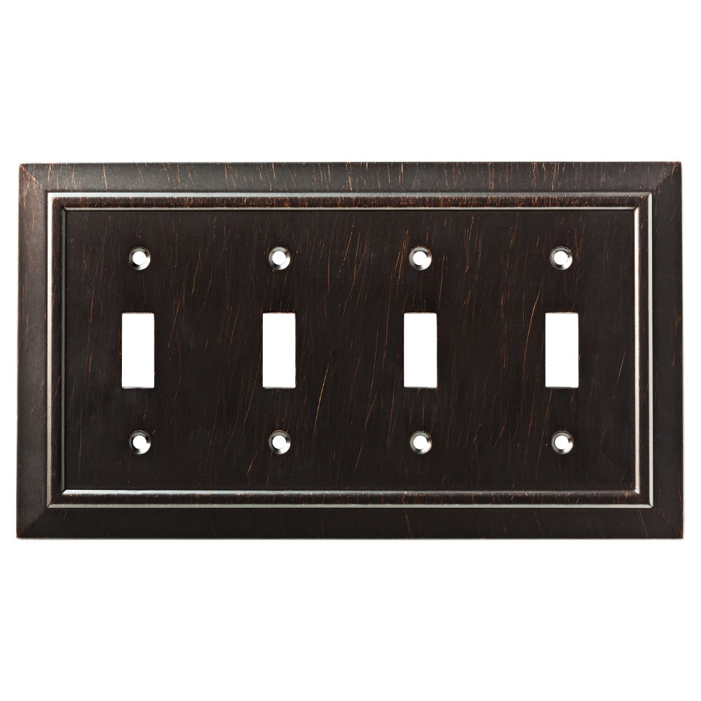 Franklin Brass W35227-VBR-C Classic Architecture Quad Switch Wall Plate/Switch Plate/Cover, Venetian Bronze by Franklin Brass