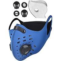 HLovebuy Máscara de carbón activado a prueba de polvo, máscara de polvo con filtro de gas, antipolen, antialergia, máscara de polvo PM2.5 para ciclismo, correr, actividades al aire última intervensión