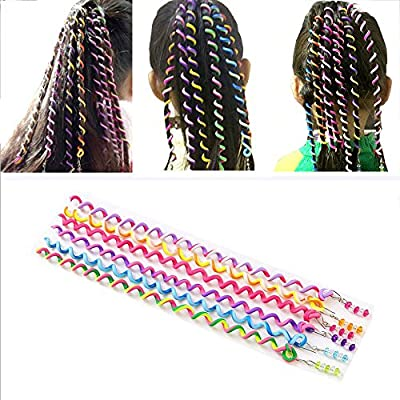 12PCS BcPowr Women Girl Hair Styling Twister Clip Braider Tool Hair Accessories With Beads. (Multicolor?