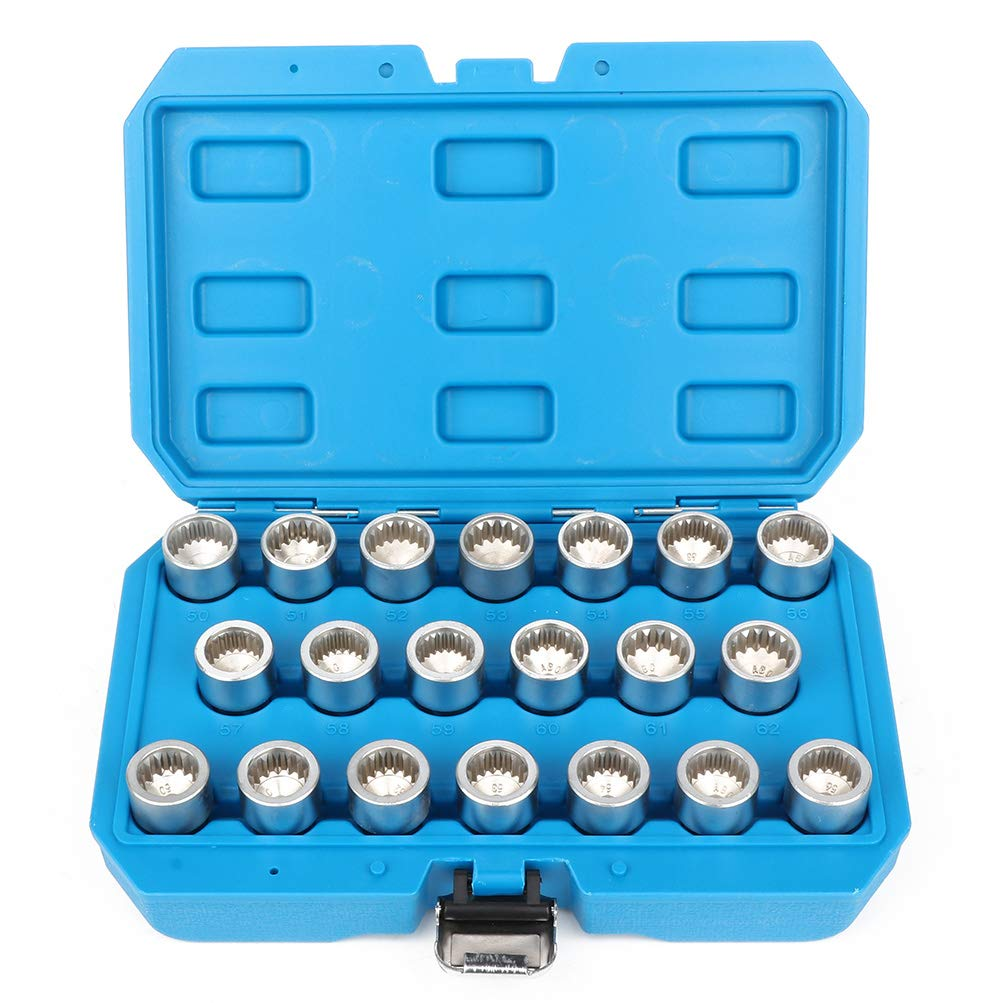 SCITOO Automotive 20pc Master Locking Wheel Nut Key Socket Set Compatible for Porsche Cayenne VW Touareg