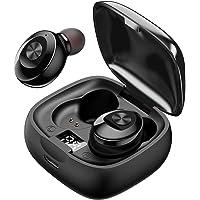 JAKO Wireless Earbuds, IPX5 Waterproof Earphones with Charging Case, TWS 5.0 Bluetooth Headphones Deep Bass Stereo in-Ear Earphones Built-in Mic for Sports, Black