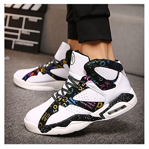 Fashion Shoes Sports Scurtain Performance Sneakers Shock Basketball Mens White Absorption gF1EOqwnT