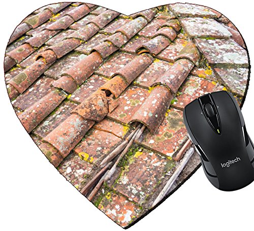 Tuscan Roof Tile (MSD Mousepad Heart Shaped Mouse Pads/Mat design 24755031 Tuscan clay roof tiles)