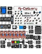 AZDelivery 35 in 1 Microcontroller Sensorenki Module Kit en Accessoire Kit compatibel met Arduino Inclusief E-Book!