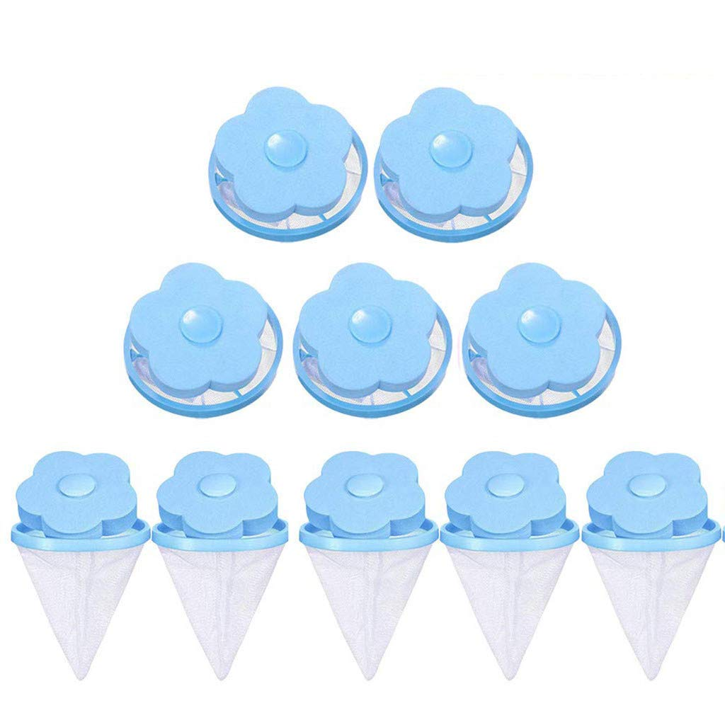 Filter Bag Laundry Ball Wool Cleaning Supplies US Shipping RYGHEWE 10 Pcs Floating Pet Fur Catcher Filtering Hair Removal Device Washing Machine Universal Float