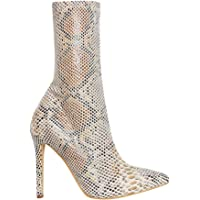 OLCHEE Women's Sexy Pointed Toe Sock Boots - Stiletto High Heel Ankle Booties