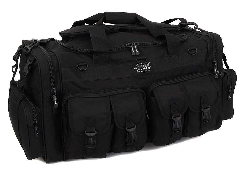 NPUSA Mens Large 30'' Inch Black Duffel Duffle Military Molle Tactical Cargo Gear Shoulder Bag