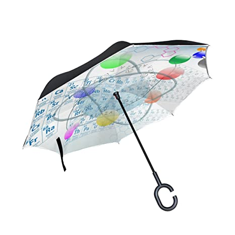 Amazon lorvies atomic elements periodic table chemistry design lorvies atomic elements periodic table chemistry design double layer inverted umbrella reverse umbrella for car and urtaz Choice Image