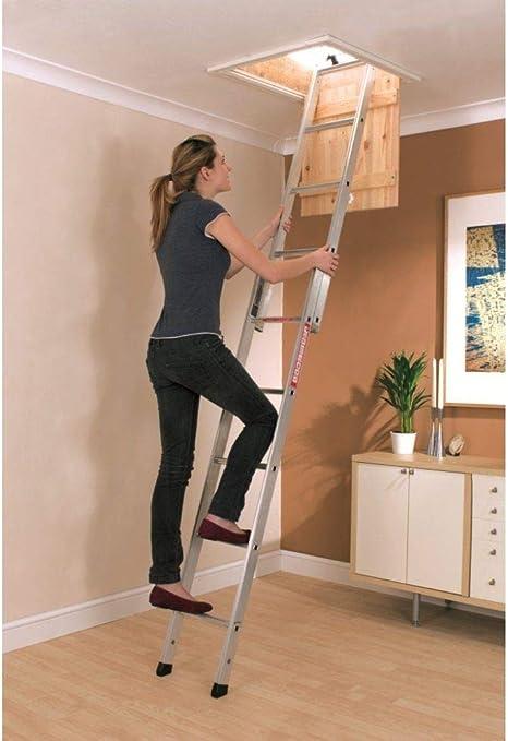 Alumi Loft - Escalera de Aluminio con sección de Descarga Deslizante: Amazon.es: Electrónica
