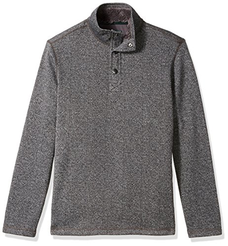 G.H. Bass & Co. Men's Madawaska Button Mock Long Sleeve Fleece, Griffin, X-Large