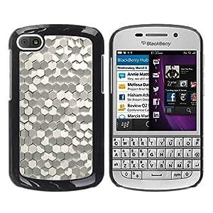 Paccase / SLIM PC / Aliminium Casa Carcasa Funda Case Cover para - Hexagon Material Modern Art Paper - BlackBerry Q10