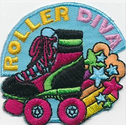 Cub Girl Boy ROLLERSKATE Embroidered Iron-On Fun Patch Crests Badge Scout - Scout Cub Boy Patch