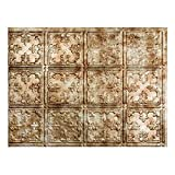 Fasade Easy Installation Traditional 10 Bermuda Bronze Backsplash Panel for Kitchen and Bathrooms (18'' x 24'' Panel)
