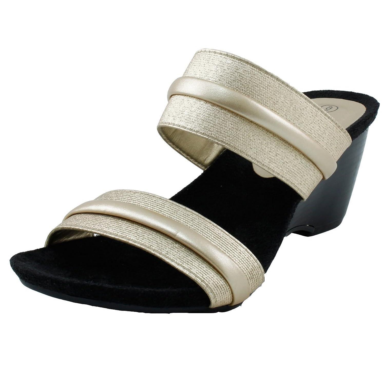 b1614f176b29 Agape Ava-66 Two-Tone Dual-Strap Wedge Sandal