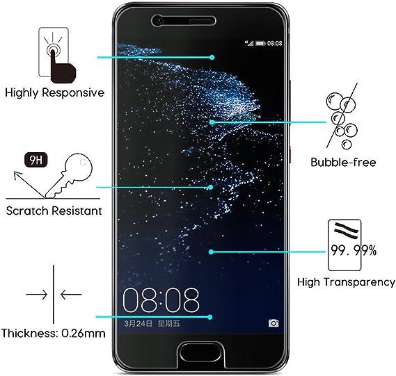 Copmob Cristal Templado Protector de Pantalla Huawei Y6II Compact ...