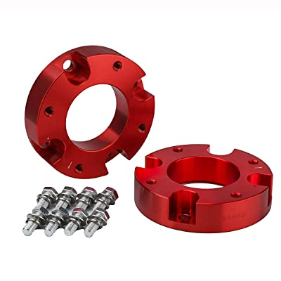 "KSP Front Leveling Kit Fit for Tundra, 2in Red Aircraft Billet Strut Spacers for 2007-2020 Tundra 2WD 2X2 4WD 4X4, Lift Your Truck 2"": Automotive"