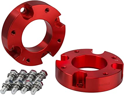 KSP Lift Kit Front 2 Aircraft Billet Strut Spacers Leveling Lift Kit for Toyota Tundra 2WD 2X2 4WD 4X4 2007-2019