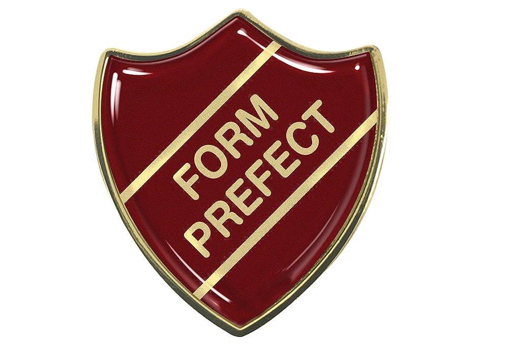 Burgundy Capricornone Form Prefect Gel Domed School Shield Badge