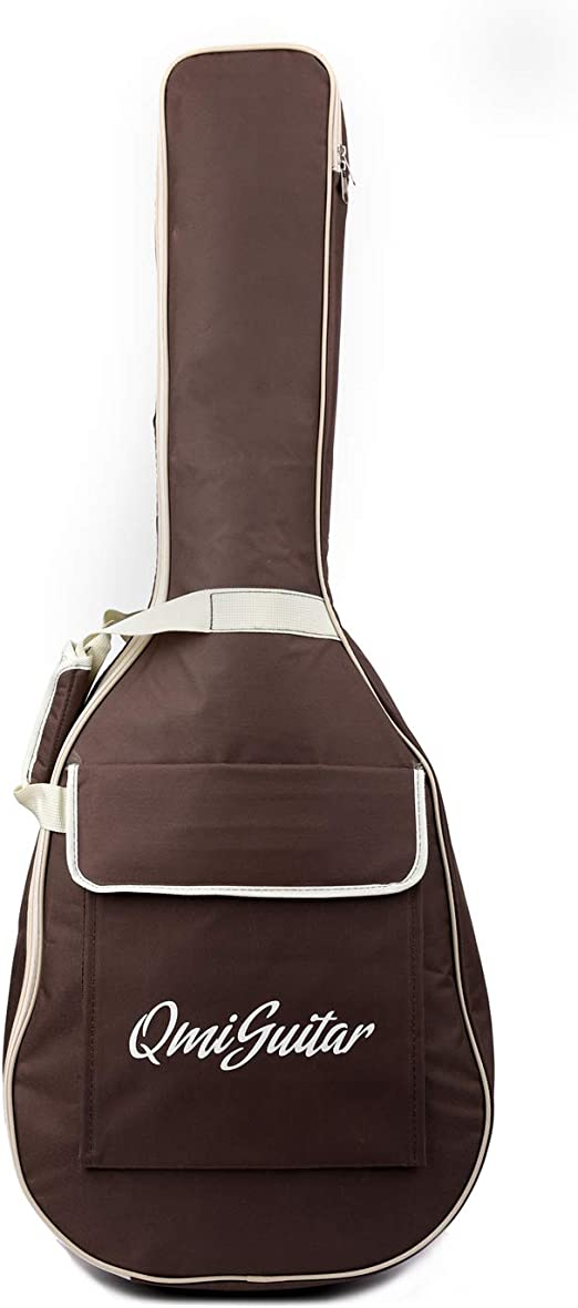 BQKOZFIN 20MM Thickened and Waterproof Oxford 41 inch Acoustic Guitar Bag Black with Three pockets Guitar Cases Gig Bag