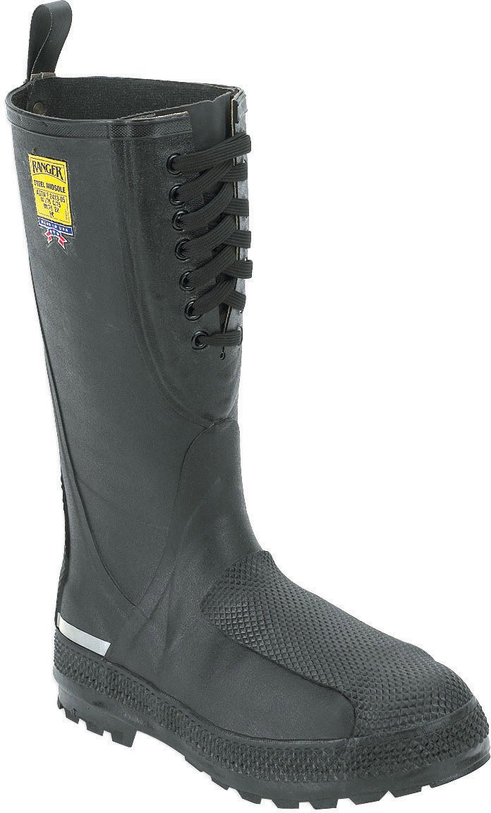 Honeywell Safety 2221-8 Ranger Flanker 16 Metatarsal Safety Hi Pac for Men's, Size-8, Black by Ranger by Honeywell