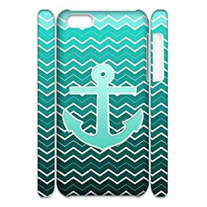 Blue Chevron Anchor Phone Case For Iphone 4/4s [Pattern-1]