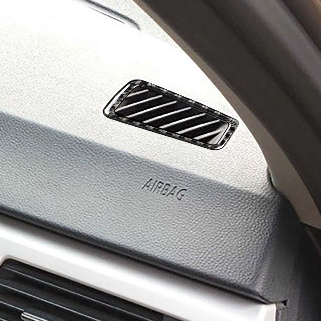 SODIAL pour BMW E90 E92 E93 Fibre de Carbone Climatisation Int/érieure Ventilation Garniture Couvercle de La Voiture Styling 3D Autocollants S/érie 3 Accessoires Drive Right Drive