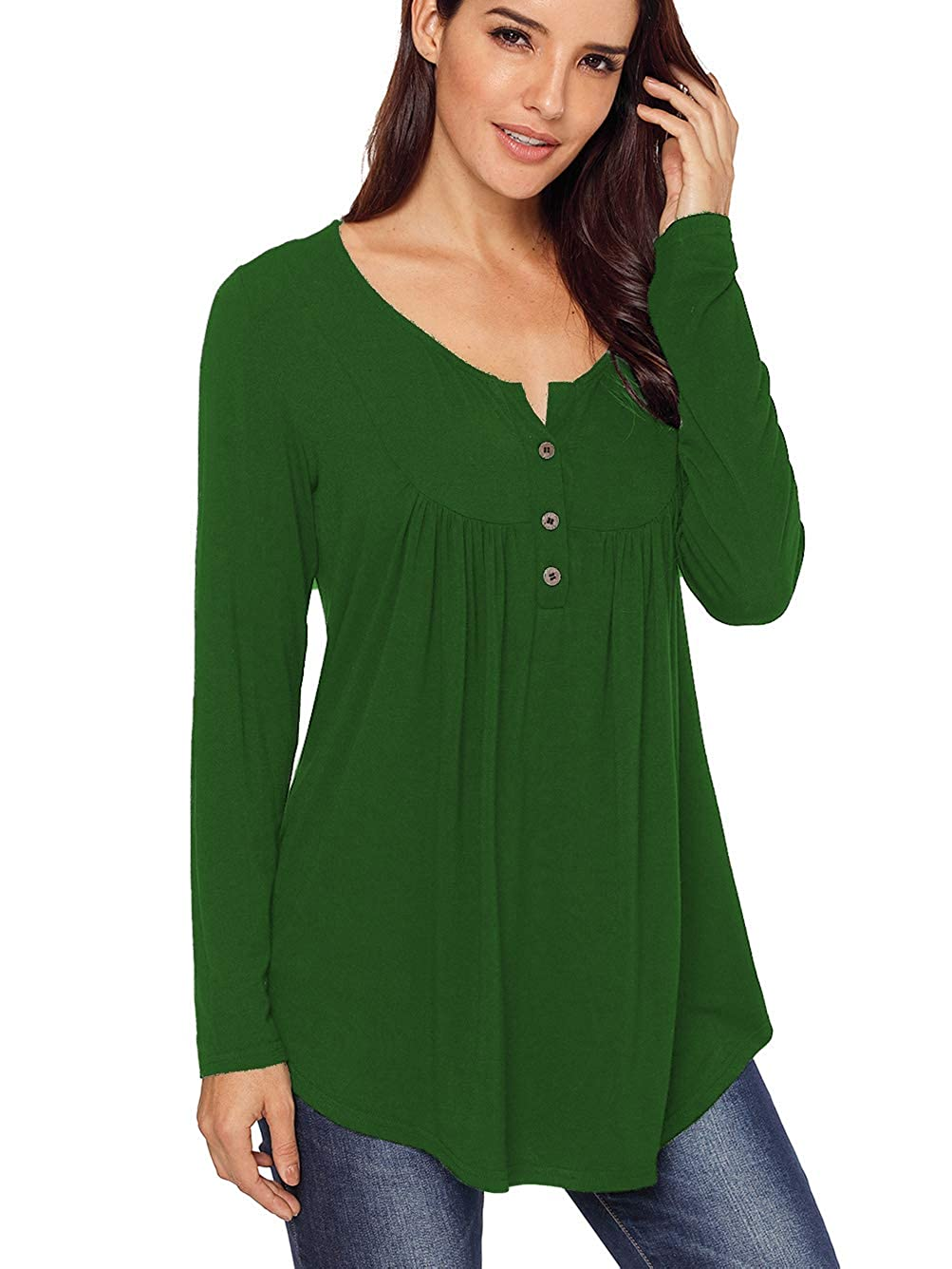 2 Green Famulily Women's Flowy Tank Tops Summer Sleeveless Loose Fit Pleated Tunic Shirts