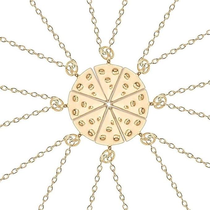 7d1655180e1688 Amazon.com: Trendy Best Friends Pendant Necklace Rainbow Broken Heart  Necklace for Women Silver Chain BFF Friendship Jewel: Clothing