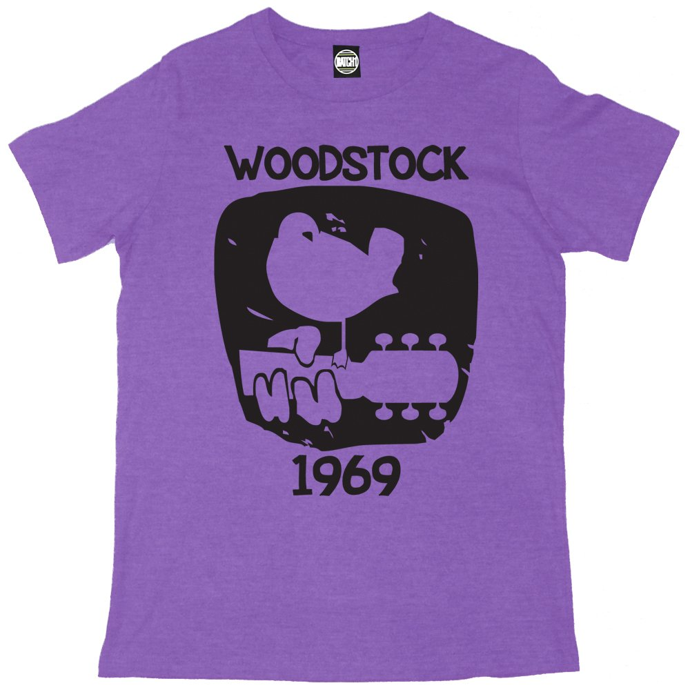 Amazon Batch1 Mens Woodstock 1969 Vintage Printed T Shirt