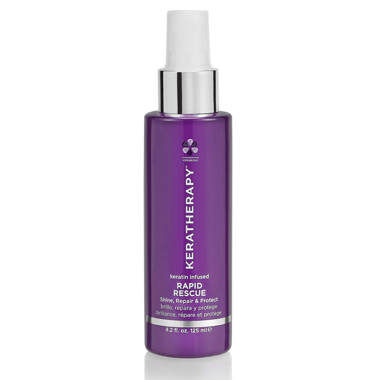 KERATHERAPY Keratin Infused Rapid Rescue Shining Spray, Thermal Hair Protection, 4.2 Fl Oz