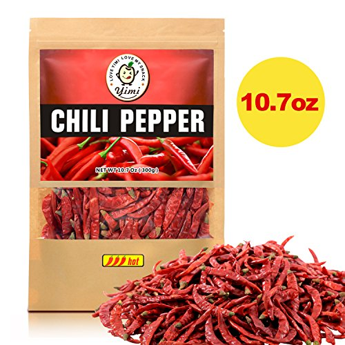 Yimi Premium Whole Dried Chilies, Chinese Dry Red Chili Peppers, For Hot Chili Oil and Sichuan Chongqing Hotpot, 10.7oz, Super Hot -
