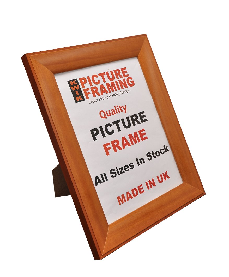 Kwik Picture Framing: Teak Bevel Wooden Picture Frame (A3): Amazon ...