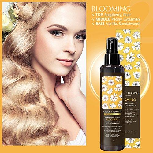PEDISON BEAUTE Argan Oil and Perfume Hair Mist 4.7oz (Blooming) [K-Beauty] Nourishing, Hydrating, Protecting Hair Mist with Long Lasting (Hair Perfume Extract)