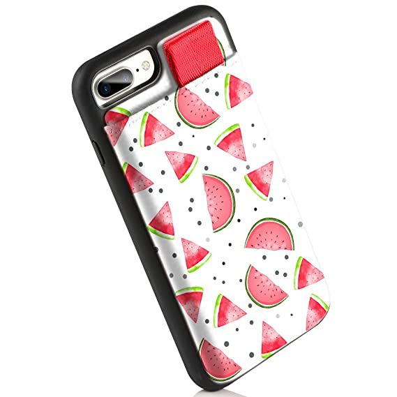 official photos 89601 edd77 LAMEEKU Wallet Case for Apple iPhone 8 Plus and 7 Plus, Card Holder Case  with Watermelon Fruits Print Credit Card Slot Slim Leather Pocket  Protective ...