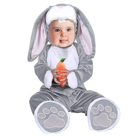 Disfraz Conejo Bebe,Unisex Bebé Mameluco de Halloween Carnaval ...