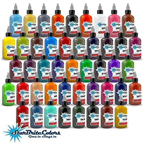 StarBrite Colors Sterilized Tattoo Ink - 46 Color Set 4 oz -  TAT-INK-S-SB-303--46|4.0oz