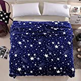LivebyCare Luxury Collection Ultra Soft Flannel Bed Blanket Plush Fleece All-Season Throw/Bed Blanket Couch Blanket Star 71