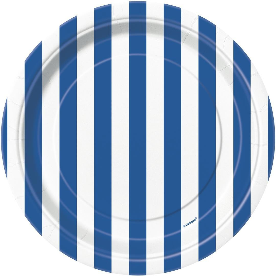 Unique Party 55613-18 Foil Baby Blue Striped Balloon