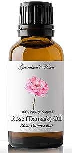 Rose Essential Oil, 100% Pure, Therapeutic Grade Essential Oil - 30 mL (1 fl oz) - Grandma's Home