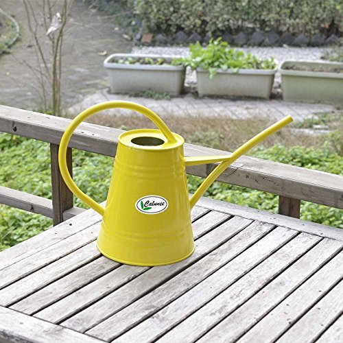 Nice Calunce fashion rustic retro textured gardening tools long spout watering can ,yellow for cheap