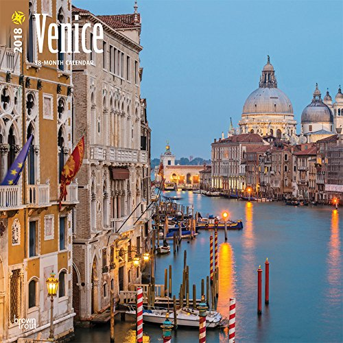 Venice 2018 12 x 12 Inch Monthly Square Wall Calendar, Scenic Travel Europe Italy (Italy Easel)