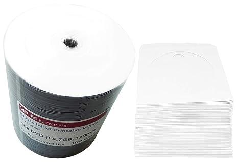 photo regarding Printable Dvd Rohlinge referred to as 100 Shiny Bedruckbare DVD Rohlinge MP-Expert (CMC) DVD-R 4,7GB 16x Huge Inkjet printable weiß, vollflächig bedruckbar für Tintenstrahldrucker + GRATIS