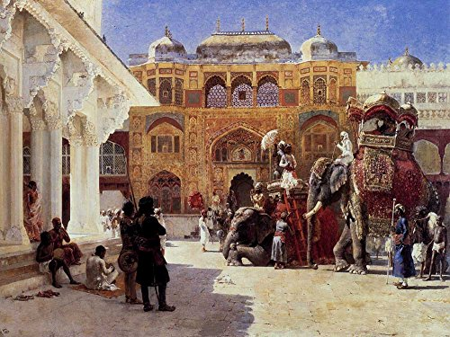 The Museum Outlet - Edwin Lord Weeks - Arrival Of Prince Humbert The Rajah At The Palace Of Amber - Poster Print Online (A3 (Rajah Iron)