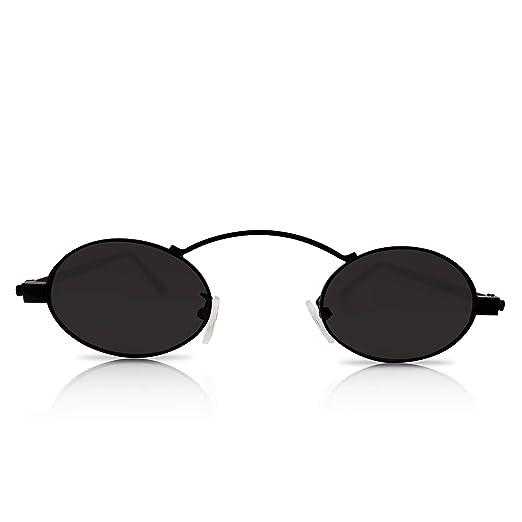 ca1878523a22 Amazon.com: Tiny Sunglasses For Women - Trendy Sunglasses Small Oval ...