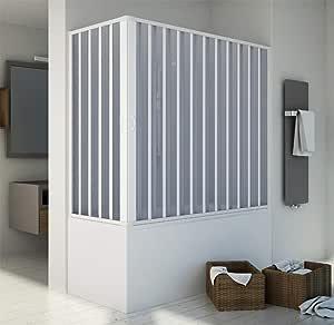 Mampara de pared para bañera de 140 x 170 x 70/50 cm reducible, apertura central.: Amazon.es: Bricolaje y herramientas