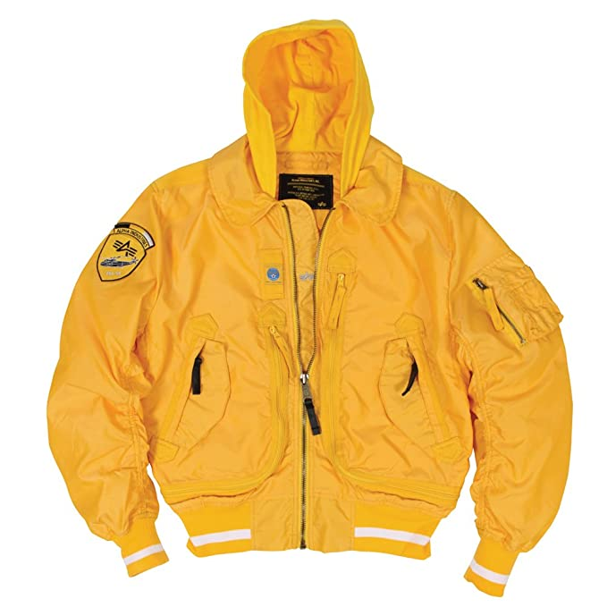 online retailer 9badc 9f67f Alpha Industries Liquid Racer Jacket, Canary Yellow Size 5XL ...