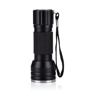 Serda 21 LED linterna de luz UV negra, mascotas ultravioleta detector de orina perros gatos