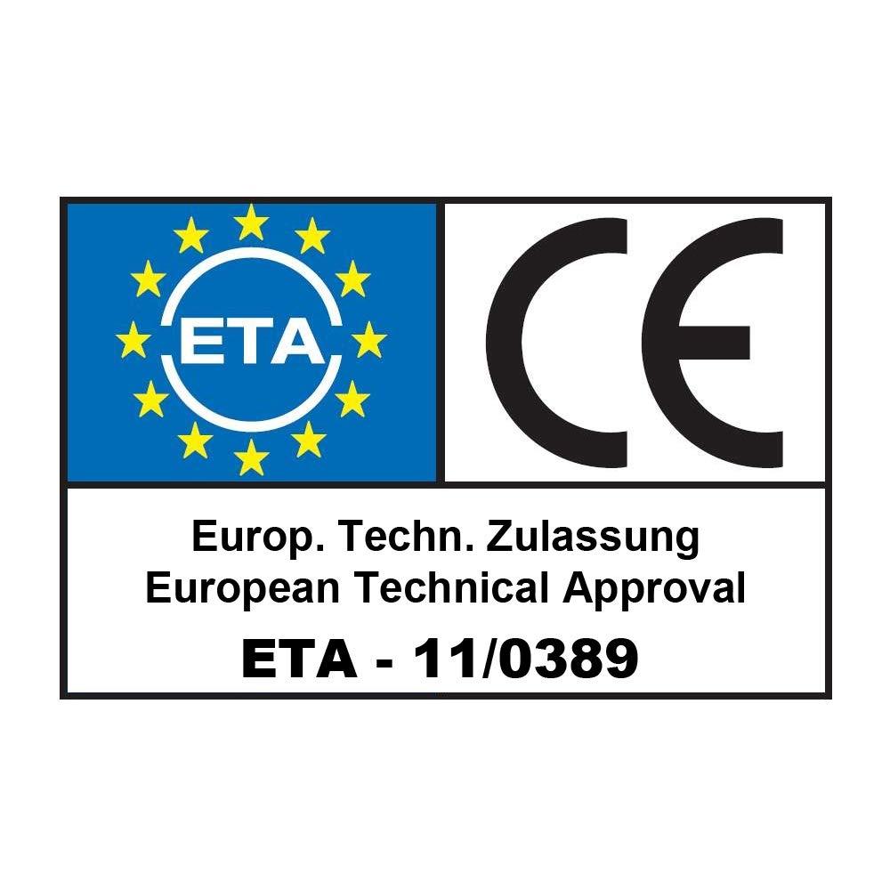 EU-Zulassung Tellerkopfschrauben PanelFix 8 x 180 mm hell verzinkt 50 St/ück